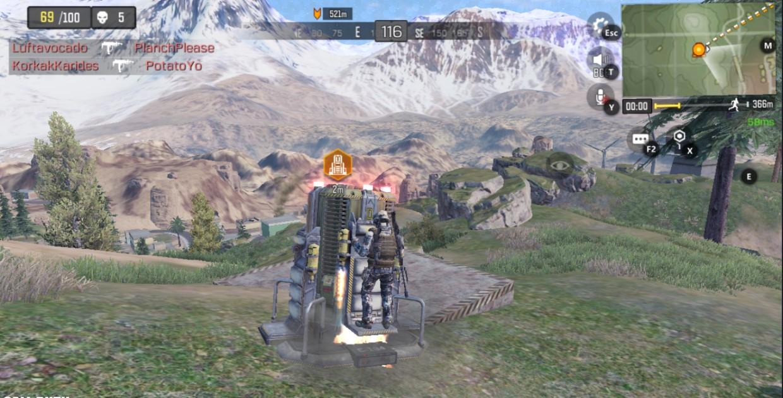 Использование катапульты в Call of Duty Mobile