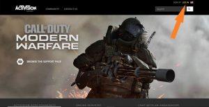 Вход на сайт Activision