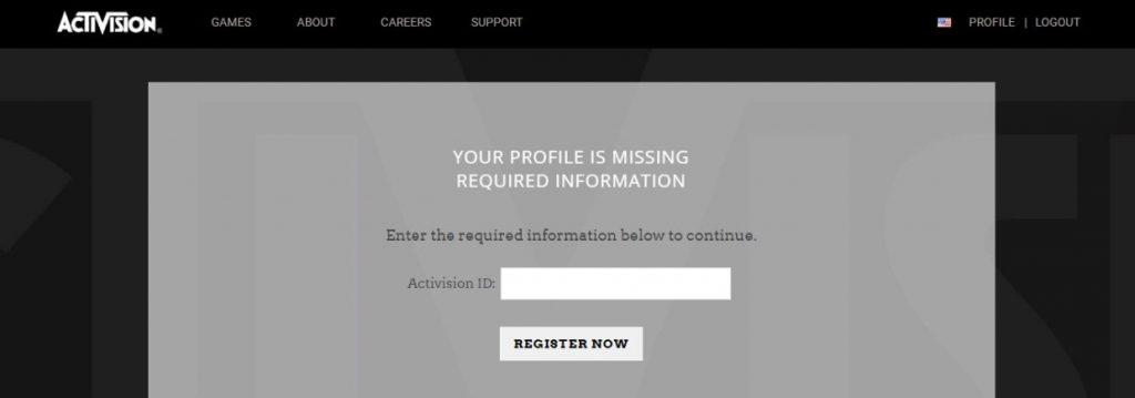 Запрос Activision ID